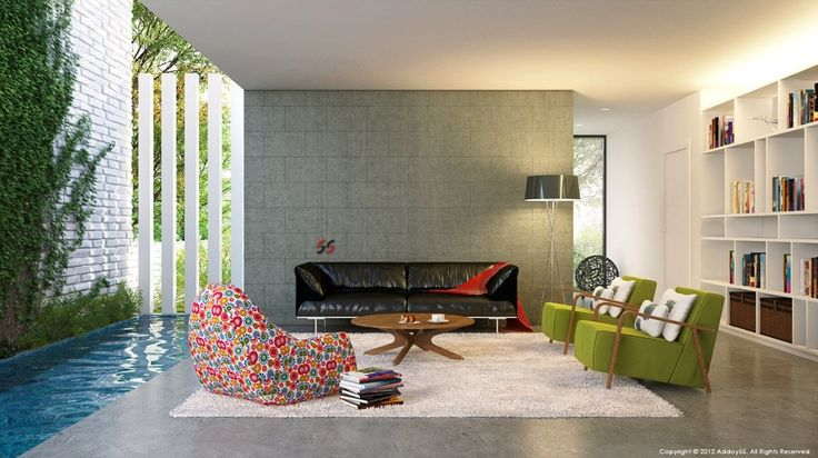 Fabulous living room design with modern theme... | Visit : roohome.com    #livingroom #decoration #amazing #awesome #gorgeous #great #fabulous #unique #interior
