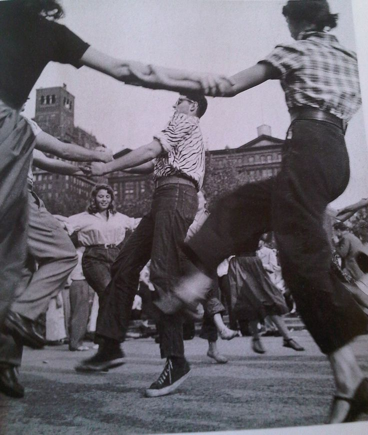 40s 50s western wear jeans sneakers plaid shirt square dance found photo street print