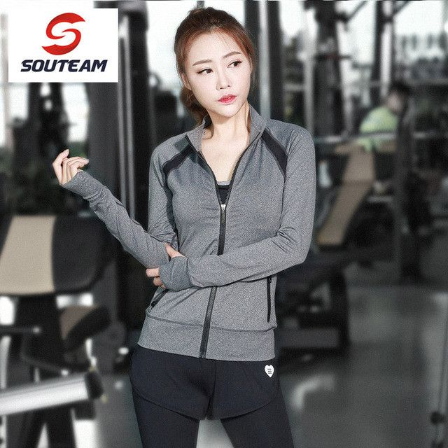 Women Sports Jacket Woman Fitness Sports Gym Clothing Breathable Yoga Jackets For Lady Zipper Coat