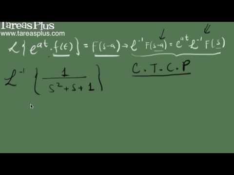 Transformada inversa de laplace y el primer teorema de traslación