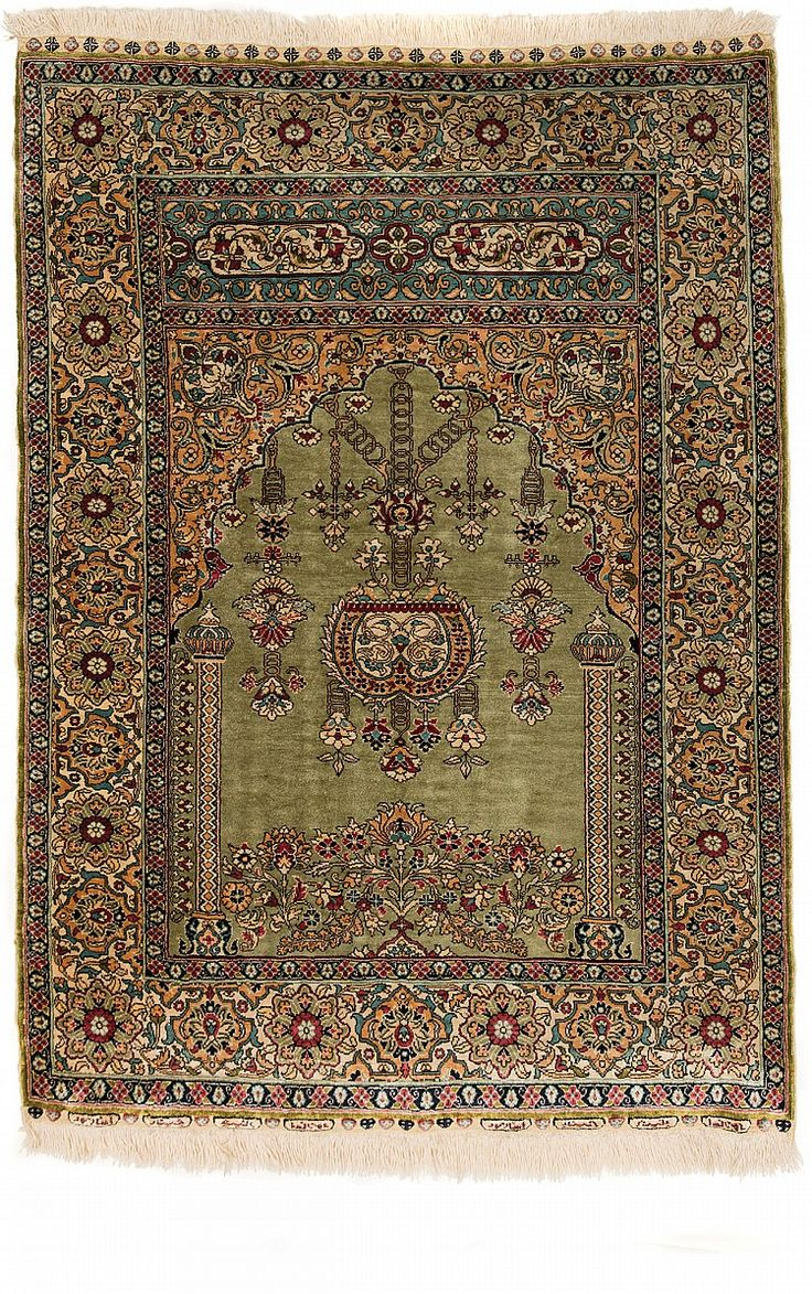 HEREKE CARPET, TURKEY Dimensions: Approx. 126 x 89 cm I  Albahie Auction House