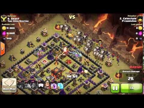 LavaLoonion with three Lava Hounds: An example of how to get three stars using LavaLoonion with 3 Lava Hounds against a TH10. This is a very common strategy for low to medium TH10s and a must learn.