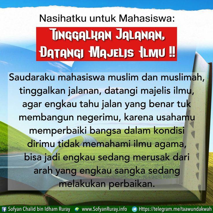 Follow @NasihatSahabatCom http://nasihatsahabat.com #nasihatsahabat #mutiarasunnah #motivasiIslami #petuahulama #hadist #hadis #nasihatulama #fatwaulama #akhlak #akhlaq #sunnah #akidah #salafiyah #Muslimah #adabIslami #ManhajSalaf #Alhaq #dakwahsunnah #Islam #ahlussunnah  #sunnah #tauhid #dakwahtauhid #Alquran #kajiansunnah #salafy #keutamaan #fadhilah #menuntutilmu #penuntutilmu #tholabulilmi #thalabulilmi #ilmusyari #nasihatmahasiswa #jangandemo #demo #datangimajelisilmu