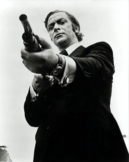 Michael Caine in Get Carter....a bleak masterpiece with a fantastic Roy Budd theme.