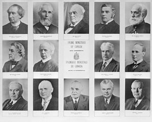 Canada's Prime Ministers from 1867 to 1967    The Prime Minister of Canada is an official who serves as the primary Minister of the Crown, chairman of the Cabinet, and thus Head of Government of Canada. Officially, the Prime Minister is appointed by the Governor General of Canada, but by constitutional convention the Prime Minister must have the confidence of the House of Commons.