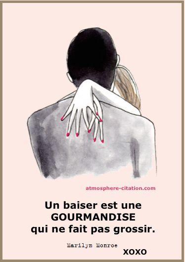 Un baiser est une gourmandise qui ne fait pas grossir. - Marilyn Monroe