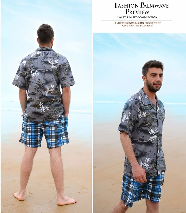 Men Shirt Cotton Hawaiian Beach Large Size Short-Sleeved Clothing Fancy Dress Shirts For Men Hawaiian Print Shirts