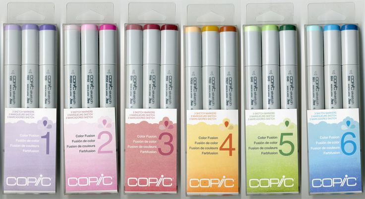 Copic Color Fusion Sketch Marker Sets