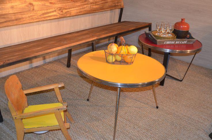 82 best tables bureaux consoles et gueridons images on - Table basse metal industriel ...