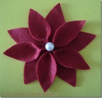 Flores navidad pinterest for Navidad adornos manualidades navidenas
