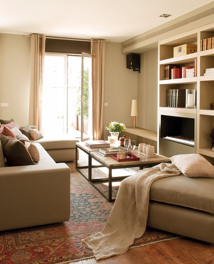 10 salones pequeños y perfectos · ElMueble.com · Salones