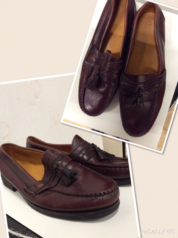 Men's size 11 dark red leather. Leather tassels. loafers.