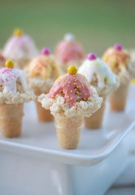 Rice Krispies Ice Cream Cone with step by step instructions.