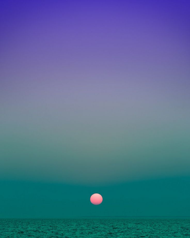 Eric Cahan's sky series captures beautiful shades of gradient formed by the sky.