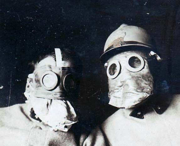 Early ww1 French TN model gas masks. 1916.