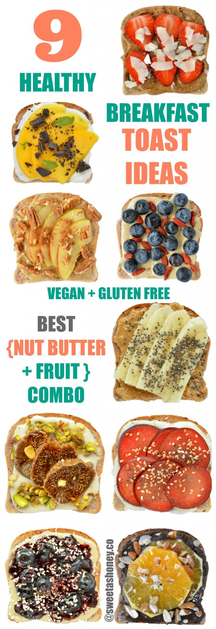 The BEST Vegan & Gluten Free Breakfast Toast. I love those fancy Nut Butter + Fruit Combo for Breakfast. Fulfilling, high in protein and fibre.