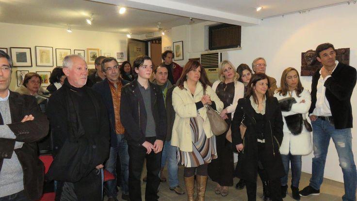 A minha família e amigos no discurso de abertura da exposição