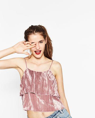 Image 5 of VELVET STRAPPY TOP from Zara