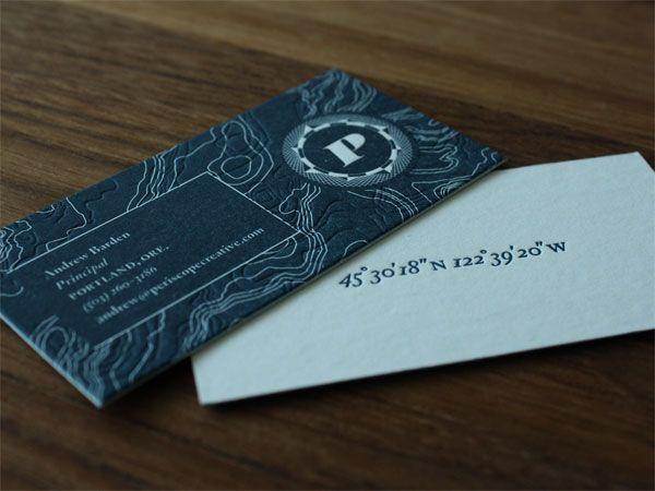 66 best business cards images on pinterest carte de visite letterpress business cards periscope creative rebranding by darrin crescenzi reheart Images