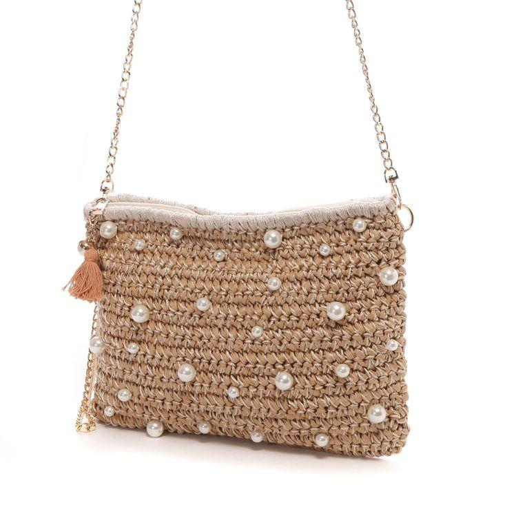 kakatoo crochet pearl bag