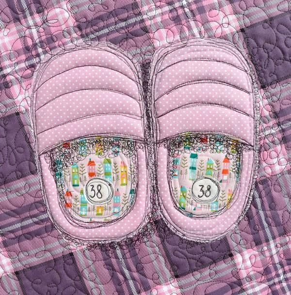 Kapcie domowe, warszawskie, rozmiar 38 / Warsaw slippers, size 38 - Ula