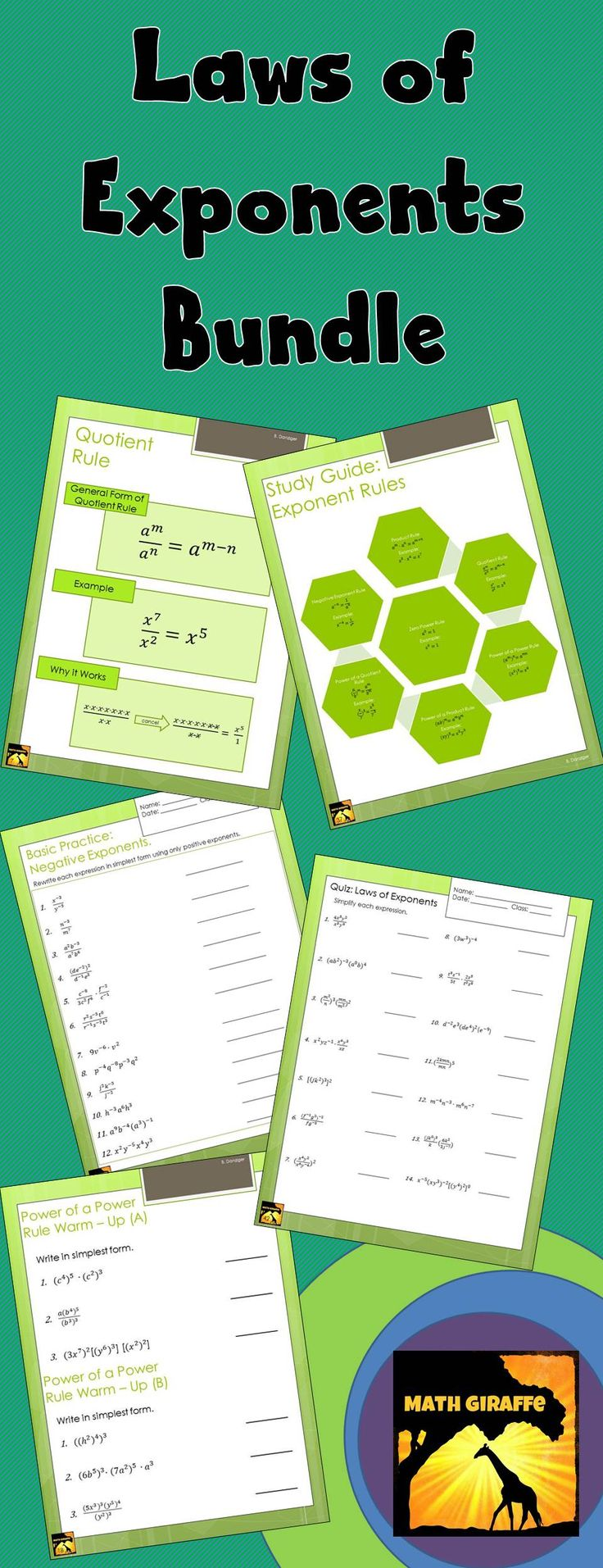 Worksheets Product Rule And Quotient Rule Exponents Worksheet 17 best images about rules of exponents on pinterest simplifying exponent 43 pages plus answer keys graphic organizers with unique why it