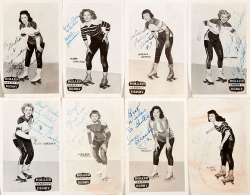1950s Roller Derby girls. I would love to have derby player's cards!!