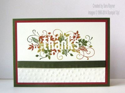 Seasonally scattered August thank you card, using supplies from Stampin' Up! www.craftingandstamping.com #stampinup