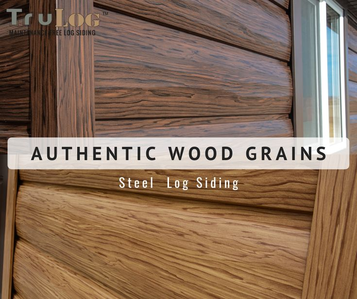 Learn More About Steel Log Siding Get the wood l…