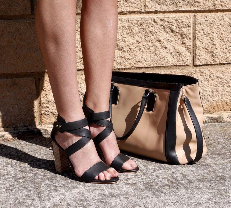 BLAKE // cross strap block heel sandals