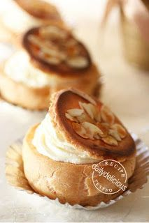 Japanese Choux Cream Variation: Caramel Top Choux Cream