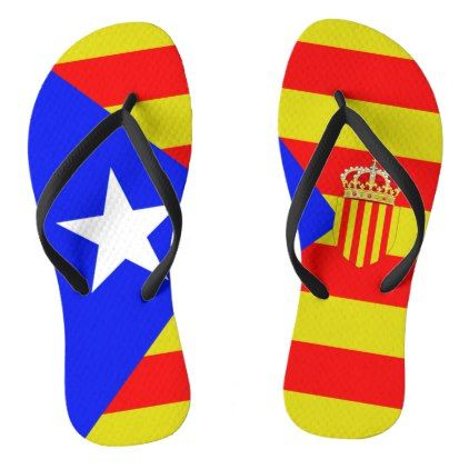 #Catalan flag flip flops - #womens #shoes #womensshoes #custom #cool