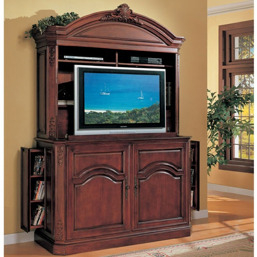 sunrise lyndon 2 piece tv armoire w hidden pop up tv lift