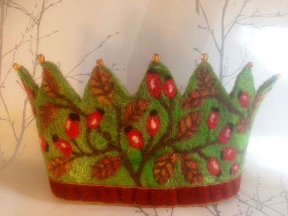 RoseHip Waldorf Autumnal crown - Other variations made to order