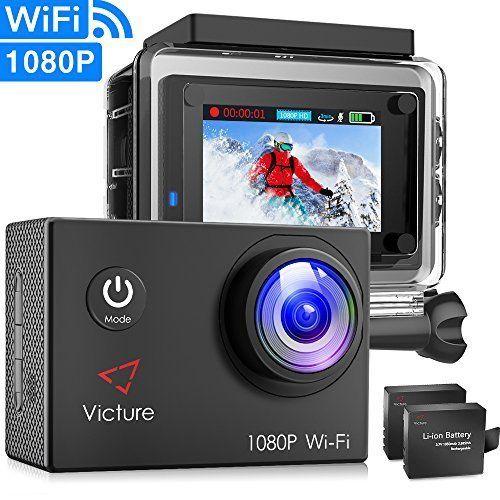 Victure Actioncam Full Hd 1080p 12mp 170° Weitwinkel Wasserdichte Aktionkamera Foto & Camcorder
