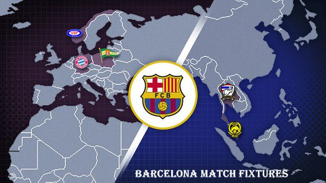 Barcelona F.C. calender match fixtures schedule of year 2013-2014. Upcoming matches of Barcelona in La Liga & other leagues. Matches date & time with images