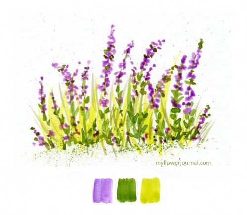 Color Swatches In Watercolor Simple PaintingsWatercolor