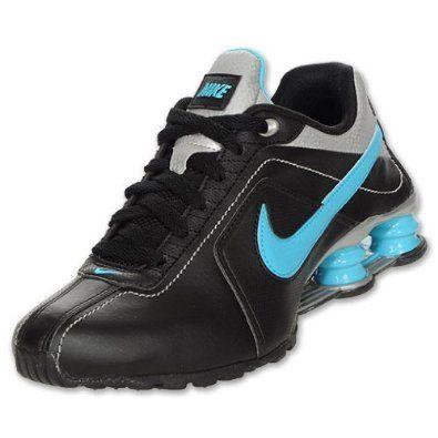 Womens Nike Shox Conundrum Black / Metallic Silver / Chlorine Blue 407989-005, via