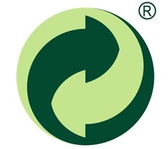 Знак «Зеленая точка» (нем. Der Grune Punkt) ставят на продукцию, производитель которой оплатил сбор на переработку и утилизацию в рамках «Дуальной системы» (DSD). Введено в Германии в 1991 году. Актуально только на территории европейских стран.
