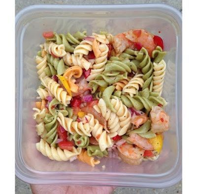 Deanna from The Pretty Girls' Guide is here to share the best simple shrimp pasta salad recipe EVER. Get ready to fall in love with this easy, healthy dish!