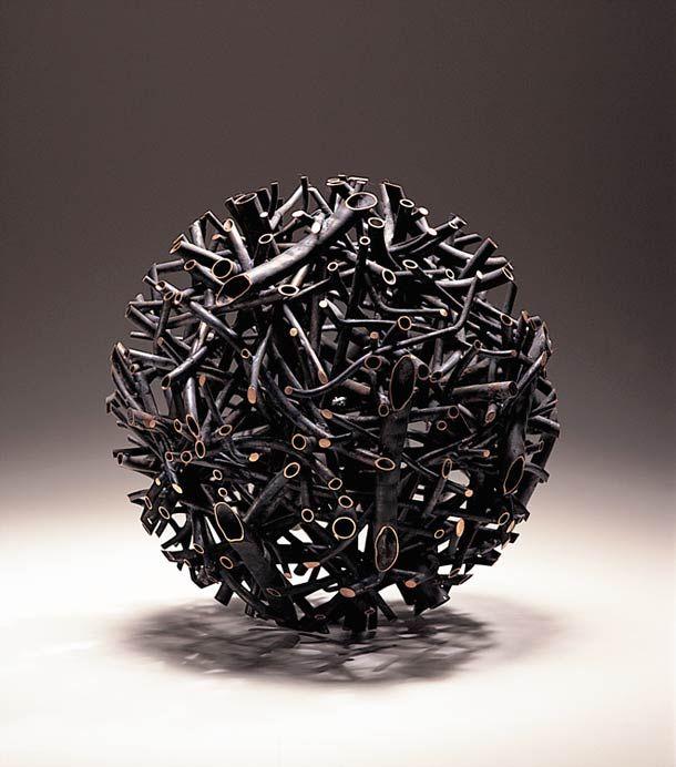 Giant Wooden Spheres by Lee Jae-Hyo