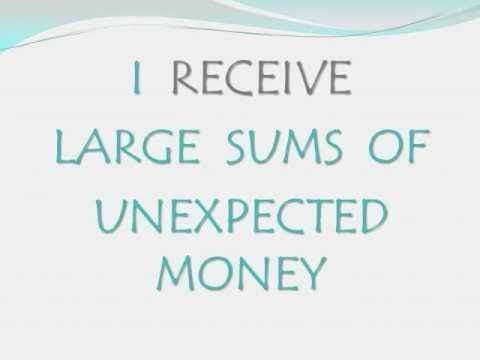 I receive large sums of unexpected money. Wealth f…