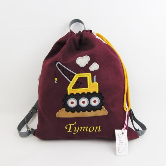 Plecak Z Dzwigiem Worek Z Dzwigiem Plecak Przedszkolaka Plecak Z Imieniem Worek Na Buty Personalizowany Prezent Perso Baby Gifts Bags Drawstring Backpack