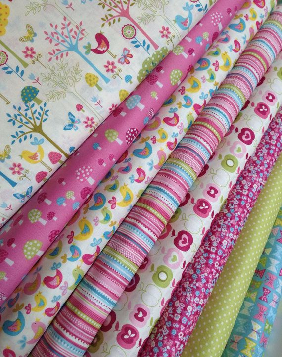 Flo's Garden fabric bundle by Andover Fabrics- Fat Quarter Bundle- 8 total on Etsy, $24.00