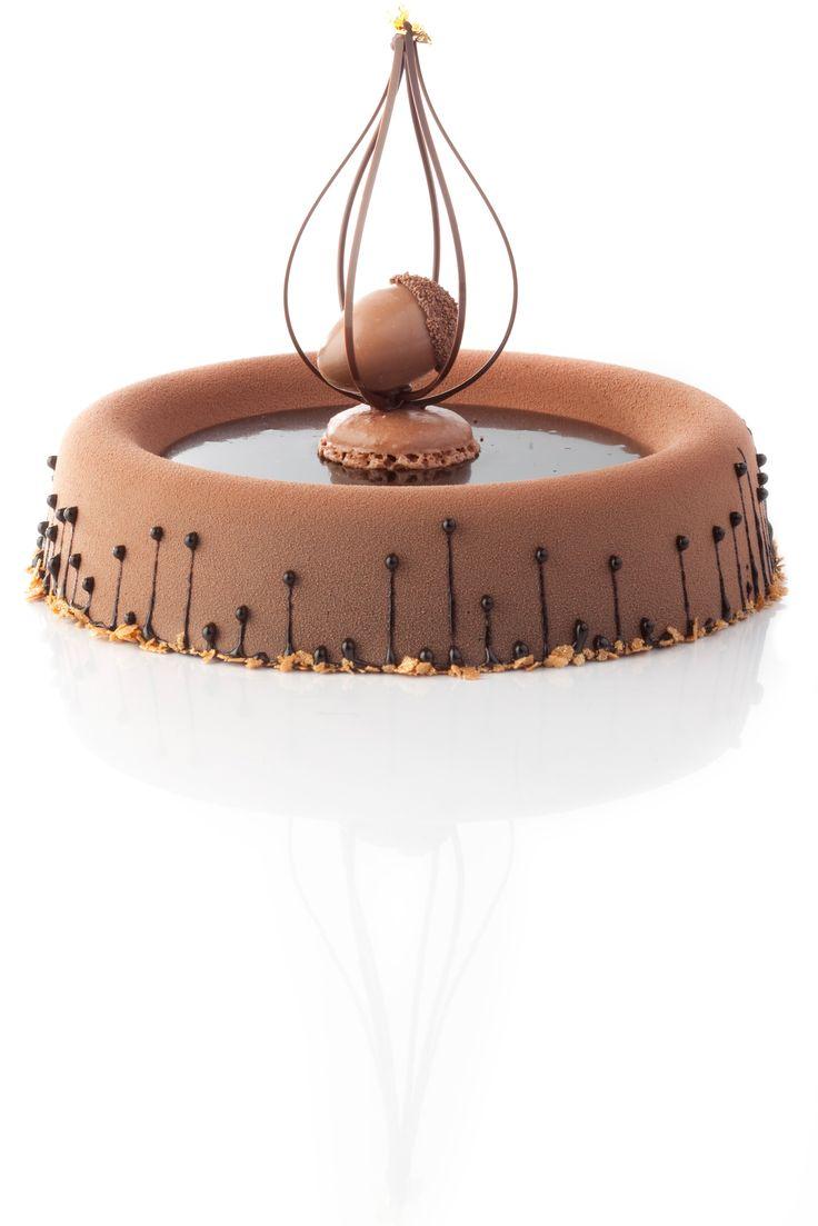 Art de la table - Gâteau au chocolat et praliné