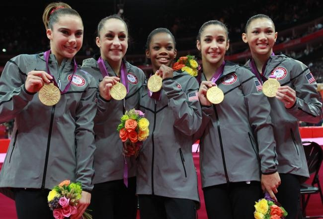 The Fab Five - U.S. Women's Gymnastic team wins the team gold medal at the 2012 Olympic Games in London