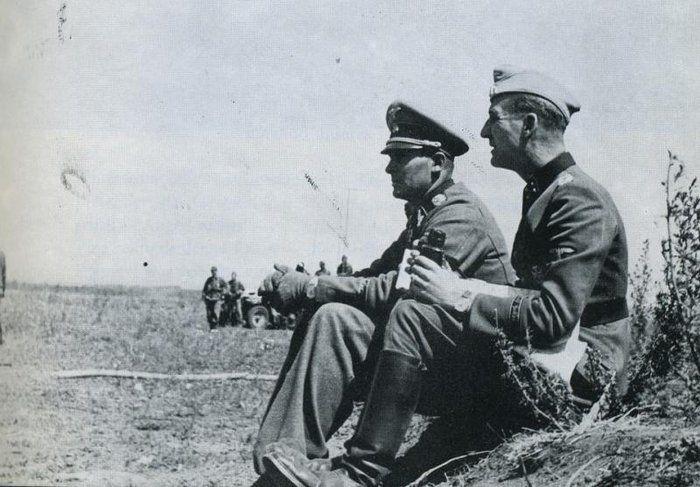SS-Brigadeführer Theodor Wisch & SS-Sturmbannführer Rudolf Lehmann.