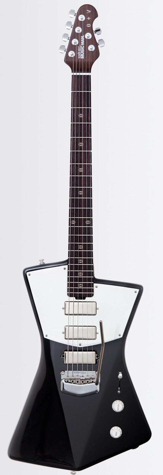 Ernie Ball Music Man St. Vincent Signature Guitar Grammy award winning musician, songwriter, and guitarist St. Vincent is the latest edition to the Music Man family. This unique design was created by