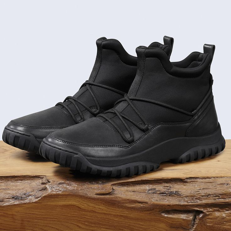 BEVANO, the rugged sport boot made to combat snow storms and freezing temps.