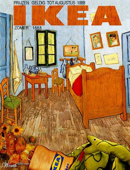 31 best Art Parody: Bedroom in Arles images on Pinterest